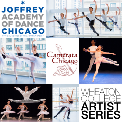 Camerata Chicago, Joffrey Academy of Dance and Wheaton College Artist Series collaborate. Photo Credits to: Cheryl Mann, Matt Glavin and Todd Rosenberg.