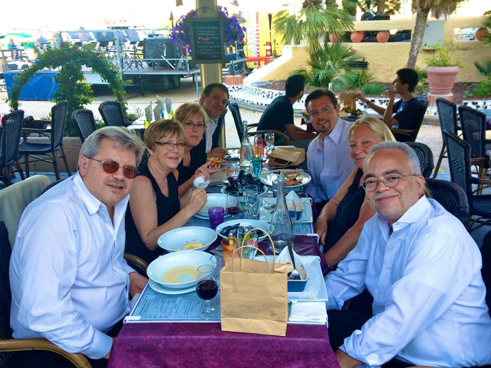 In Bandol, France with Jonathan Saylor, Susan Saylor, Deborah Stevenson, Joel Benway, Travis Heath, Kaethe Durham and George Blanchet. By Aurelien Petillot.