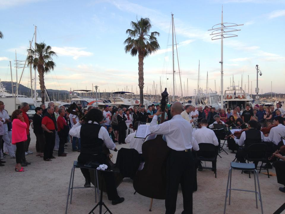 The orchestra playing at  Fête de la Musique, Bandol, France. By Laura Smith.