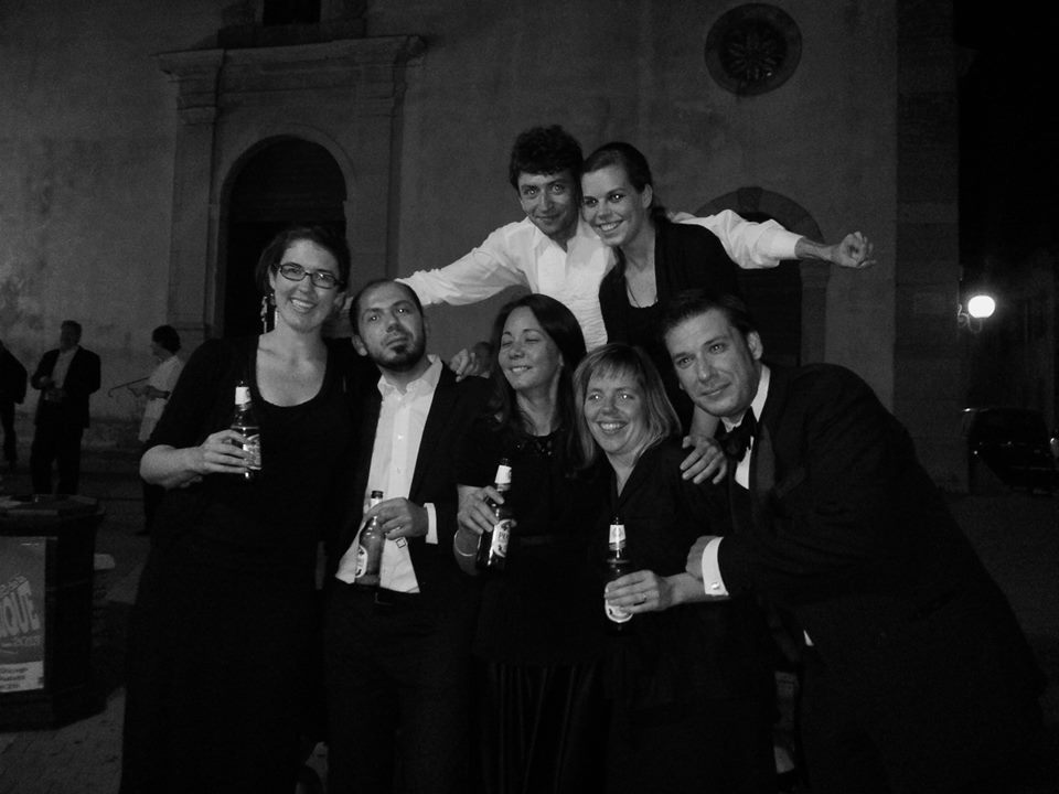 Beer after Beethoven! Some celebration after a great performance with Camerata Chicago! Little did we know how hot the bus ride was going to be... with Bridget Callahan, Alin Cernaianu, Songhea Sackrider, Dmitriy Melkumov, Danielle Giulini, Ellen McSweeney and Aurelien Petillot at Notre-Dame de la Garde, Marseille. By Chris Ferrer.