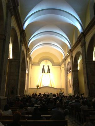 The concert at Église Notre Dame de La Nativité on June 20. By Laura Smith.