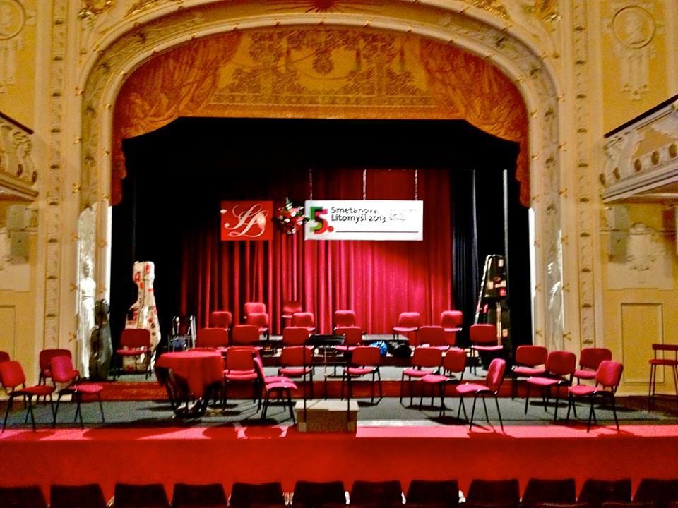 Smetanova Litomyšl Performance Hall, the venue for Camerata Chicago's June 15 concert.  By Aurelien Petillot.