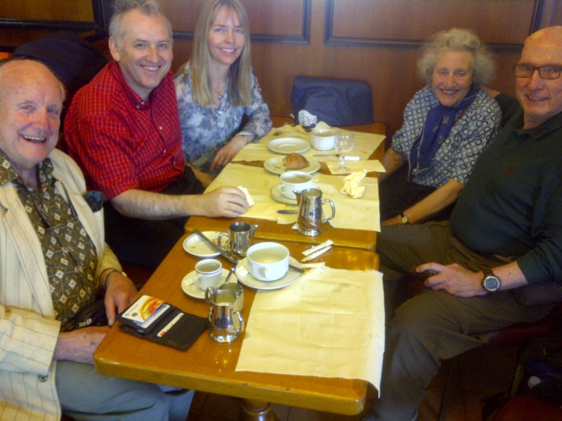 The Maestro in Paris with Graeme Hall, Ariane Hall, Joan Hall and Jim Scharnell.